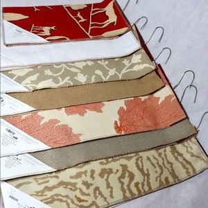 NWT x7 Pack Fabric Swatches 100% Cotton Patterns !
